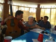 Con la Sra. Yolanda Gomezanda (hija del maestro Antonio Gomezanda)
