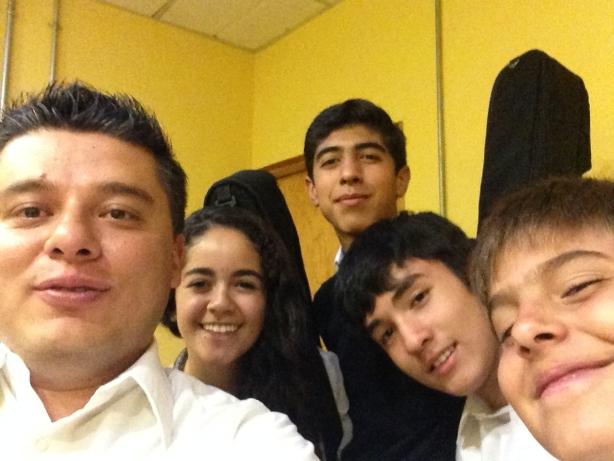 Con mis alumnitos después de tocar