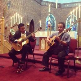 Compartiendo la música con Jorge López, en Toronto, Canadá
