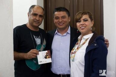 Después del concierto en el Festival Internacional de Guitarra en Paracho, Michoacán 2